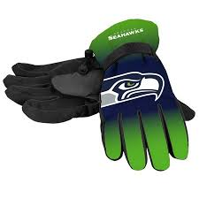 Seattle Seahawks Gloves Insulated Gradient Big Logo