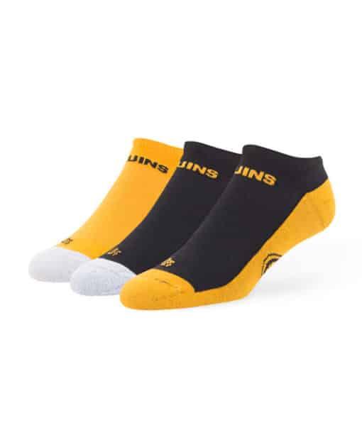 Boston Bruins 47 Brand Gait Motion No Show 3 Pack Socks