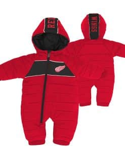 Detroit Red Wings Baby Puck Drop Puffer Snowsuit