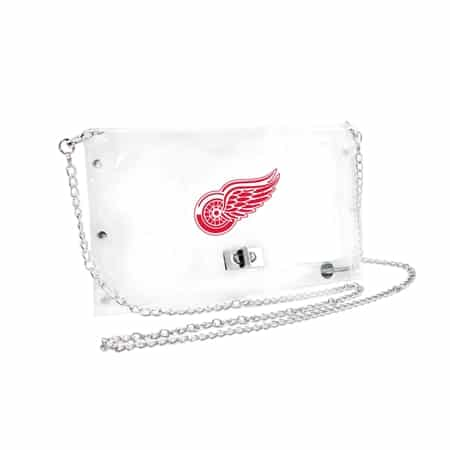 Red Wings Clear Envelope Purse