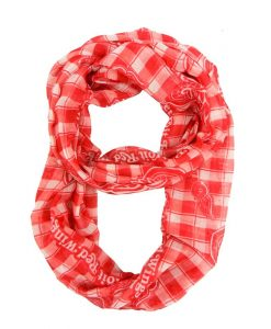 Red Wings Plaid Infinity Scarf