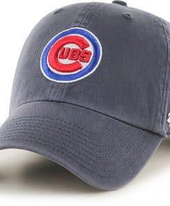 Chicago Cubs 47 Brand Logo Vintage Navy Clean Up Adjustable Hat