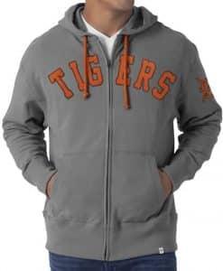 Detroit Tigers 47 Brand Mens Gametime Full Zip Hoodie