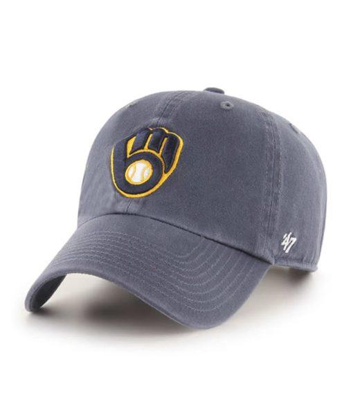 Milwaukee Brewers 47 Brand Vintage Clean Up Adjustable Hat
