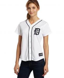 Detroit Tigers Women's Majestic White Home Replica Jersey