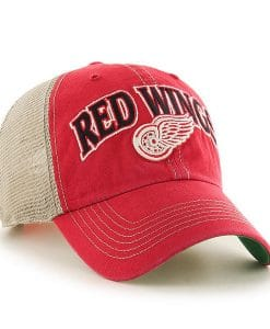 Detroit Red Wings 47 Brand Vintage Red Tuscaloosa Clean Up Adjustable Hat