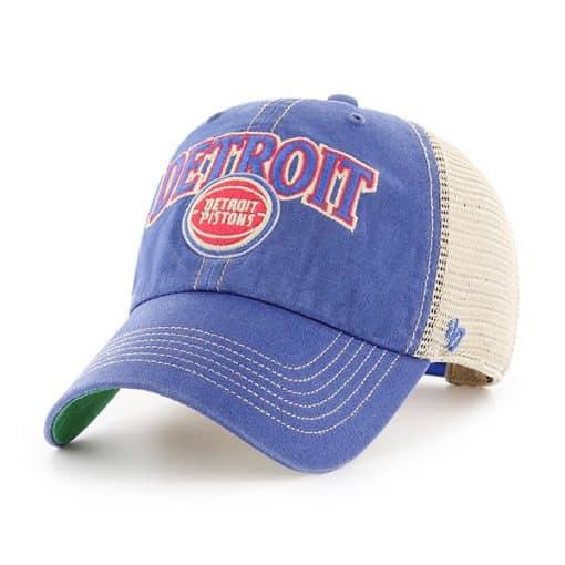 Detroit Pistons Tuscaloosa Clean Up Vintage 47 Brand Adjustable Hat