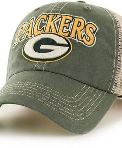 Green Bay Packers Tuscaloosa Clean Up Vintage Green 47 Brand Adjustable Hat