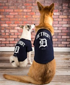 Detroit Tigers Navy Dog T-Shirt Tee