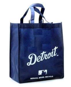 Detroit Tigers Reusable Navy Tote Grocery Bag
