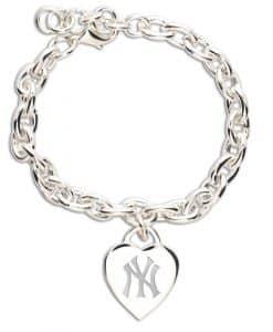 New York Yankees Heart Charm Bracelet