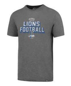 Detroit Lions Men's 47 Brand Classic Grey T-Shirt