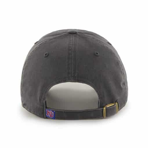 Kansas Jayhawks 47 Brand Clean Up Charcoal Adjustable Hat Back