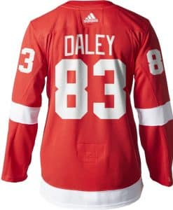 Trevor Daley Detroit Red Wings Men's Adidas AUTHENTIC Home Jersey