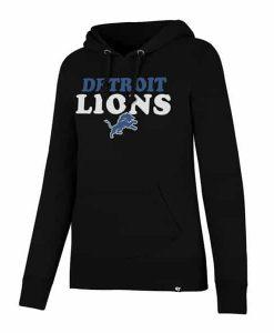 Detroit Lions 47 Brand Women's Headline Black Hoodie