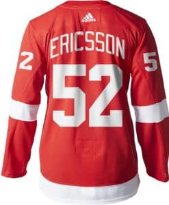 Ericsson Detroit Red Wings Men's Adidas AUTHENTIC Home Jersey