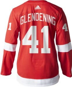 Glendening Detroit Red Wings Men's Adidas AUTHENTIC Home Jersey