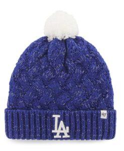 Los Angeles Dodgers Women's 47 Brand Blue Fiona Cuff Knit Hat