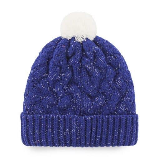 Los Angeles Dodgers Women's 47 Brand Blue Fiona Cuff Knit Hat Back