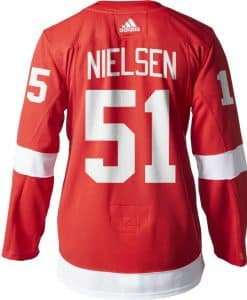 Nielsen Detroit Red Wings Men's Adidas AUTHENTIC Home Jersey