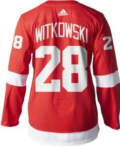Witkowski Detroit Red Wings Men's Adidas AUTHENTIC Home Jersey