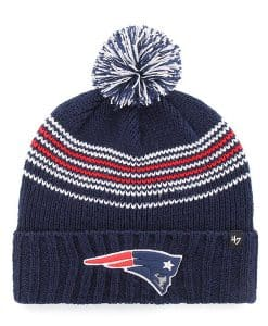 New England Patriots Women's 47 Brand Light Navy Addison Cuff Knit Hat