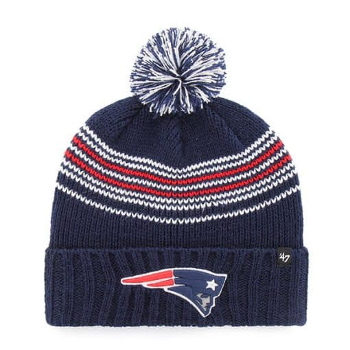 New England Patriots Women's 47 Brand Light Navy Addison Cuff Knit Hat
