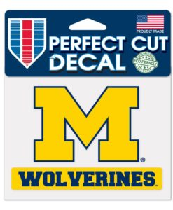 Michigan Wolverines 4x4 Perfect Cut Color Decal