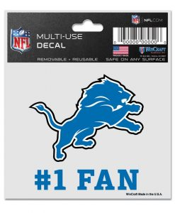 Detroit Lions 3x4 Multi-Use Decal