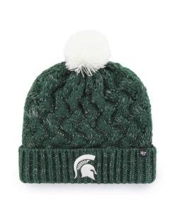 Michigan State Spartans Women's 47 Brand Logo Dark Green Fiona Cuff Knit Hat