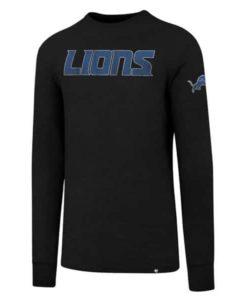 Detroit Lions Men's 47 Brand Jet Black Long Sleeve Scrum T-Shirt
