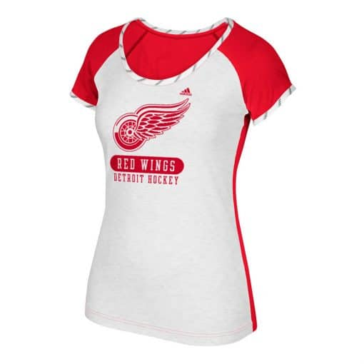 Detroit Red Wings Women's Adidas Constructed Raglan Tee