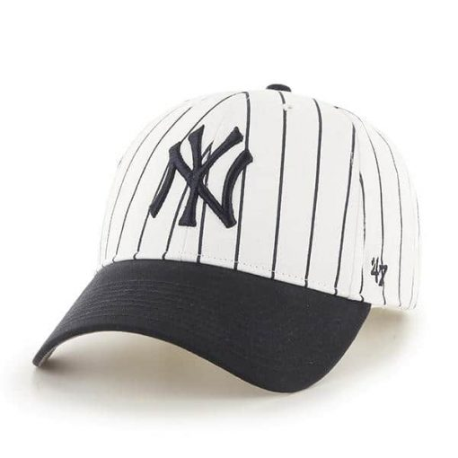 New York Yankees TODDLER 47 Brand Pinstripe White Adjustable Hat