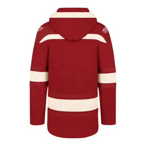 Detroit Red Wings Men's 47 Brand Red Pullover Jersey Hoodie Back