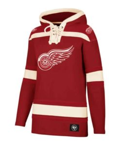Detroit Red Wings Women's 47 Brand Red Pullover Jersey Hoodie