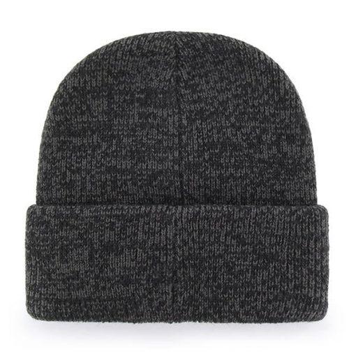 Pittsburgh Steelers 47 Brand Brain Freeze Black Gray Cuff Knit Hat Back