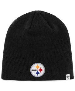 Pittsburgh Steelers YOUTH 47 Brand Black Beanie Hat