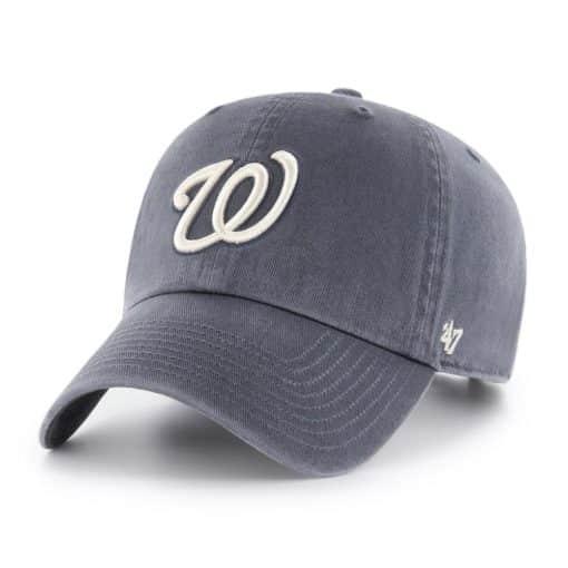 Washington Nationals 47 Brand Vintage Navy Clean Up Adjustable Hat