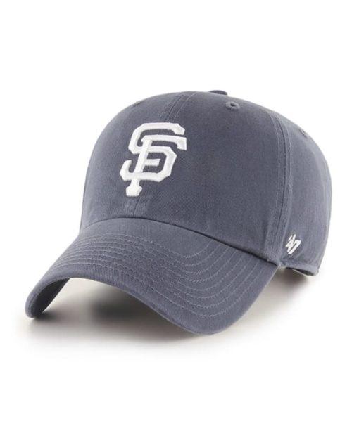 San Francisco Giants 47 Brand Vintage Navy Clean Up Adjustable Hat
