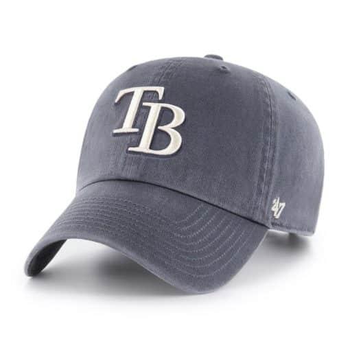 Tampa Bay Rays 47 Brand Vintage Navy Clean Up Adjustable Hat