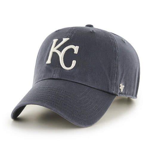 Kansas City Royals 47 Brand Vintage Navy Clean Up Adjustable Hat