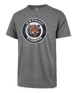 Detroit Tigers Men's 47 Brand Grey Vintage T-Shirt Tee
