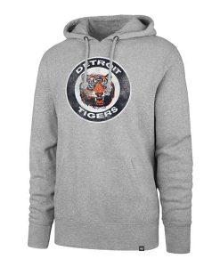 Detroit Tigers 47 Brand Gray Vintage Hoodie