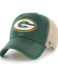Green Bay Packers 47 Brand Trawler Green Clean Up Adjustable Hat