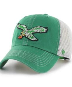 Philadelphia Eagles 47 Brand Kelly Green Trawler Classic Clean Up Adjustable Hat