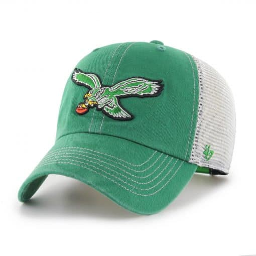 Philadelphia Eagles 47 Brand Kelly Green Trawler Classic Clean Up Adjustable Hat