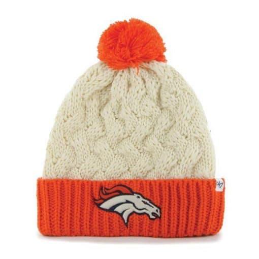 Denver Broncos Women's 47 Brand Matterhorn Natural Knit Hat