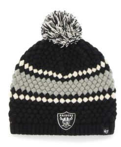 Oakland Raiders 47 Brand Women's Black Leslie Beanie Hat