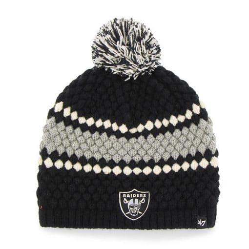 Oakland Raiders 47 Brand Women's Black Leslie Beanie Hat