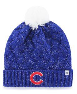 Chicago Cubs Women's 47 Brand C Blue Fiona Cuff Knit Hat